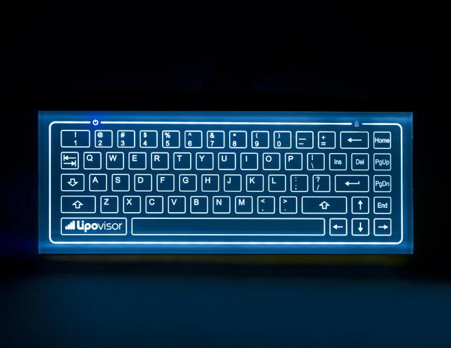 glass capacitive keyboard Lipovisor for three dimensional liposuction