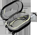 Trolley of Lipovisor device for three dimensional liposuction